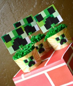 Vintage Minecraft Party via Kara's Party Ideas | KarasPartyIdeas.com #vintage #minecraft #mine #craft #video #game #party #ideas (2)