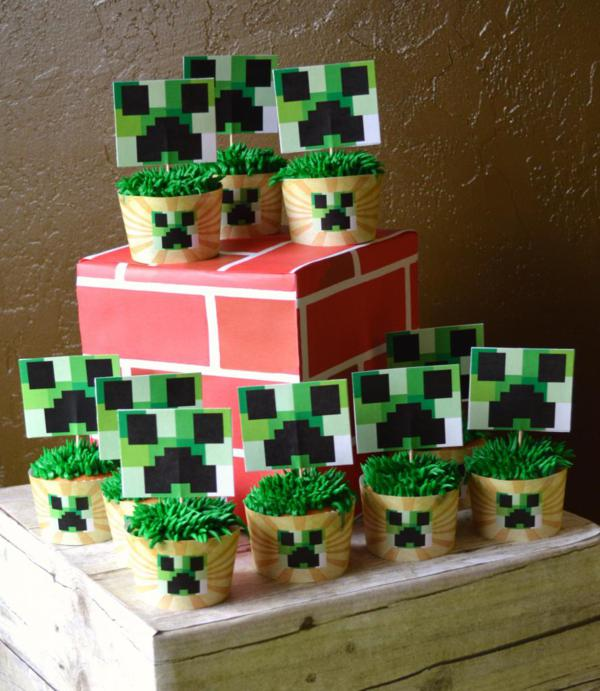 Vintage Minecraft Party via Kara's Party Ideas | KarasPartyIdeas.com #vintage #minecraft #mine #craft #video #game #party #ideas (1)