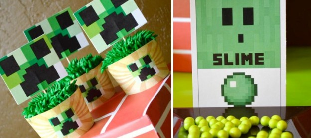 Minecraft-party-with-a-vintage-twist-So-many-cute-ideas-Via-Karas-Party-Ideas-KarasPartyIdeas.com-minecraft-party-ideas-supplies-decorations-favors-cake-cupcakes-idea