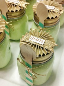 Mint and Gold Party via Kara's Party Ideas | Kara'sPartyIdeas.com #mint #and #gold #party #supplies #ideas #decorations (31)