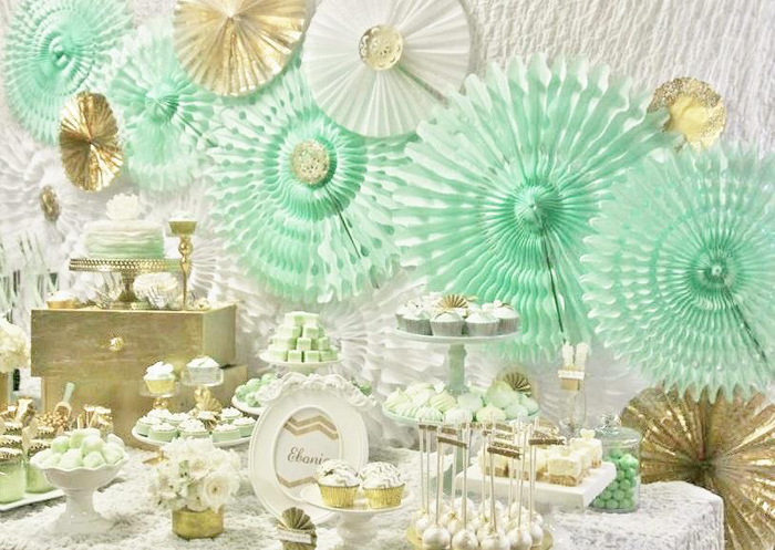 Mint And Gold Party Via Kara S Ideas Spartyideas