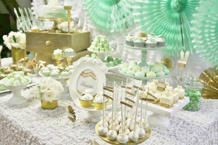 Mint And Gold Party Via Karas Ideas