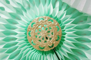 Mint and Gold Party via Kara's Party Ideas | Kara'sPartyIdeas.com #mint #and #gold #party #supplies #ideas #decorations (13)