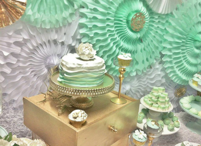 Mint And Gold Party Via Kara S Ideas Spartyideas Com