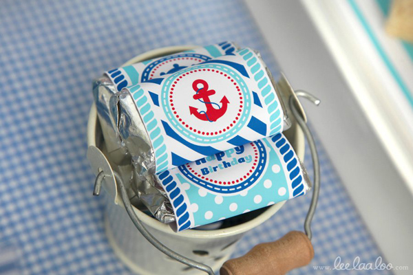 Nautical Sailboat Birthday Party via Kara's Party Ideas | Kara'sPartyIdeas.com #nautical #sailboat #birthday #party #planning #supplies #ideas (24)