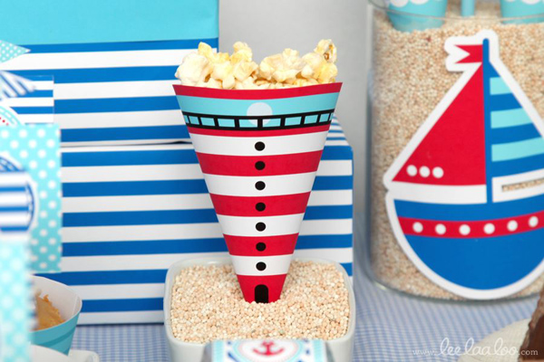 Nautical Sailboat Birthday Party via Kara's Party Ideas | Kara'sPartyIdeas.com #nautical #sailboat #birthday #party #planning #supplies #ideas (23)