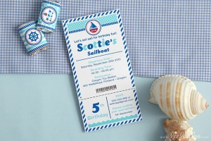 Nautical Sailboat Birthday Party via Kara's Party Ideas | Kara'sPartyIdeas.com #nautical #sailboat #birthday #party #planning #supplies #ideas (22)