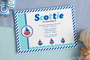 Nautical Sailboat Birthday Party via Kara's Party Ideas | Kara'sPartyIdeas.com #nautical #sailboat #birthday #party #planning #supplies #ideas (20)