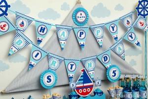 Nautical Sailboat Birthday Party via Kara's Party Ideas | Kara'sPartyIdeas.com #nautical #sailboat #birthday #party #planning #supplies #ideas (18)