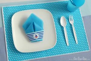 Nautical Sailboat Birthday Party via Kara's Party Ideas | Kara'sPartyIdeas.com #nautical #sailboat #birthday #party #planning #supplies #ideas (16)