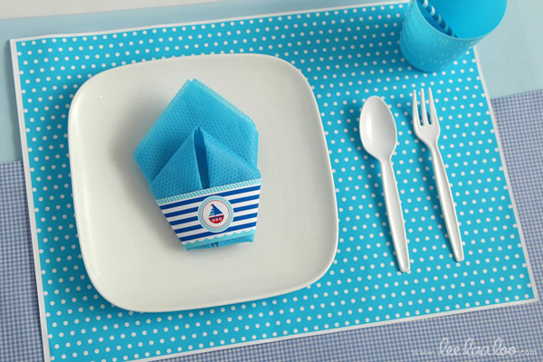 Nautical Sailboat Birthday Party via Kara's Party Ideas | Kara'sPartyIdeas.com #nautical #sailboat #birthday #party #planning #supplies #ideas (16)