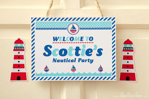 Nautical Sailboat Birthday Party via Kara's Party Ideas | Kara'sPartyIdeas.com #nautical #sailboat #birthday #party #planning #supplies #ideas (14)
