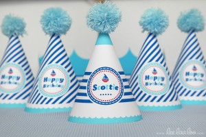 Nautical Sailboat Birthday Party via Kara's Party Ideas | Kara'sPartyIdeas.com #nautical #sailboat #birthday #party #planning #supplies #ideas (13)