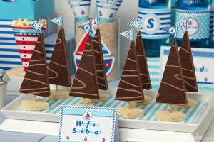 Nautical Sailboat Birthday Party via Kara's Party Ideas | Kara'sPartyIdeas.com #nautical #sailboat #birthday #party #planning #supplies #ideas (12)