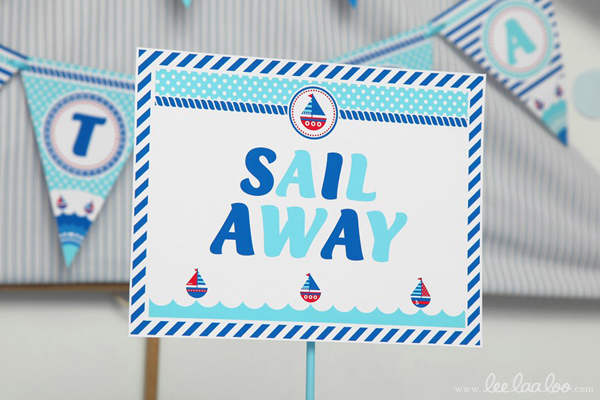 Nautical Sailboat Birthday Party via Kara's Party Ideas | Kara'sPartyIdeas.com #nautical #sailboat #birthday #party #planning #supplies #ideas (8)