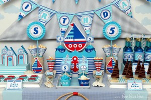 Nautical Sailboat Birthday Party via Kara's Party Ideas | Kara'sPartyIdeas.com #nautical #sailboat #birthday #party #planning #supplies #ideas (7)