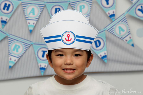 Nautical Sailboat Birthday Party via Kara's Party Ideas | Kara'sPartyIdeas.com #nautical #sailboat #birthday #party #planning #supplies #ideas (6)