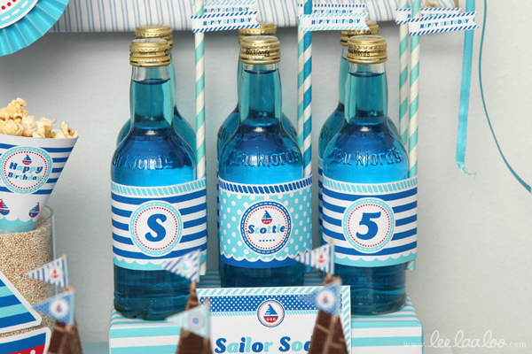 Nautical Sailboat Birthday Party via Kara's Party Ideas | Kara'sPartyIdeas.com #nautical #sailboat #birthday #party #planning #supplies #ideas (4)