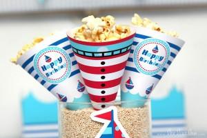 Nautical Sailboat Birthday Party via Kara's Party Ideas | Kara'sPartyIdeas.com #nautical #sailboat #birthday #party #planning #supplies #ideas (3)
