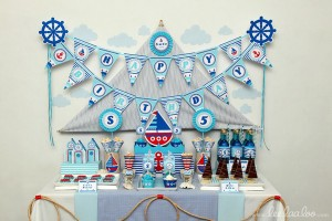 Nautical Sailboat Birthday Party via Kara's Party Ideas | Kara'sPartyIdeas.com #nautical #sailboat #birthday #party #planning #supplies #ideas (2)