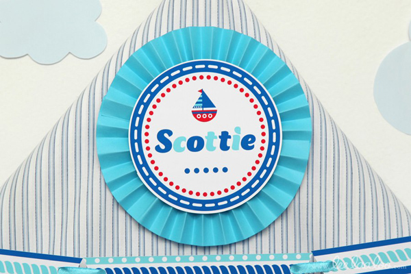 Nautical Sailboat Birthday Party via Kara's Party Ideas | Kara'sPartyIdeas.com #nautical #sailboat #birthday #party #planning #supplies #ideas (27)