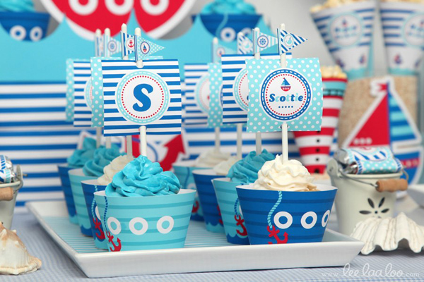 Nautical Sailboat Birthday Party via Kara's Party Ideas | Kara'sPartyIdeas.com #nautical #sailboat #birthday #party #planning #supplies #ideas (26)