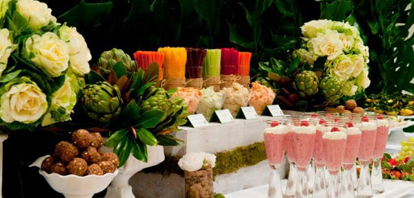 Organic Buffet and Veggie Bar via Kara's Party Ideas | Kara'sPartyIdeas.com #organic #buffet #veggie #bar (18)