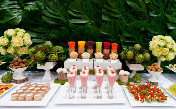 Organic Buffet and Veggie Bar via Kara's Party Ideas | KarasPartyIdeas.com #organic #buffet #veggie #bar (10)