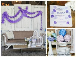 Hydrangea Garden Birthday Party via KarasPartyIdeas.com #hydrangea #birthday #party #idea (1)
