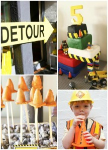 Lego Construction Birthday Party with SO MANY Ideas via KarasPartyIdeas.com #lego #construction #truck #party #idea #supplies