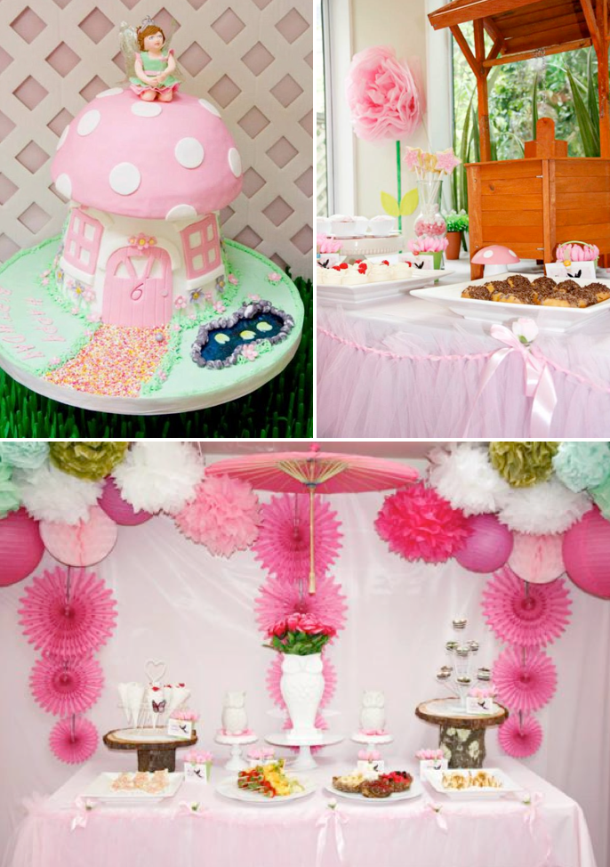 Cake Decorating Party Ideas : Kara s Party Ideas Pink Fairy Girl Woodland Tinkerbell ...