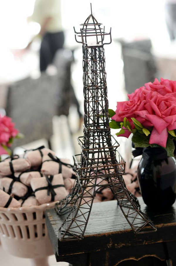 Pink Paris Party via Kara's Party Ideas | Kara'sPartyIdeas.com #pink #paris #party #planning #ideas #supplies (9)