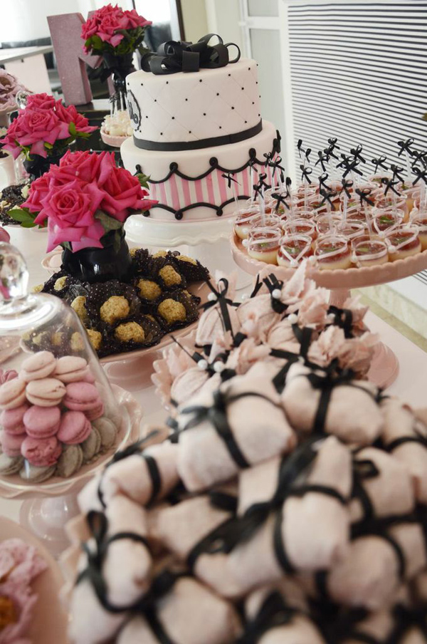 Pink Paris Party via Kara's Party Ideas | Kara'sPartyIdeas.com #pink #paris #party #planning #ideas #supplies (8)