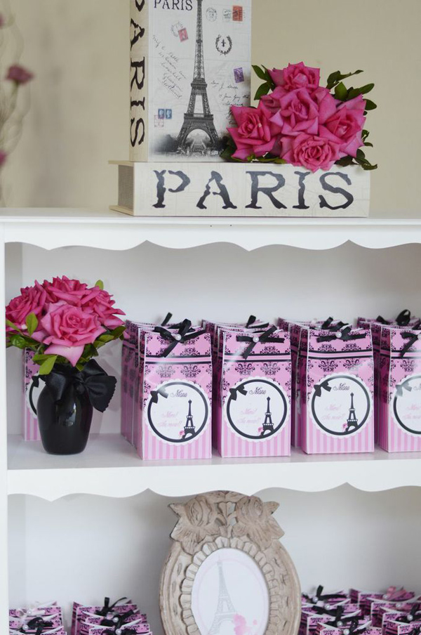 Pink Paris Party via Kara's Party Ideas | Kara'sPartyIdeas.com #pink #paris #party #planning #ideas #supplies (13)