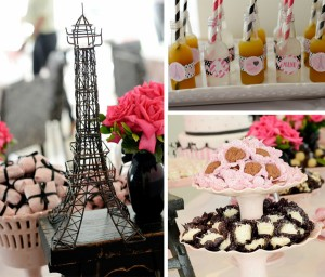 Pink Paris Party with Lots of Cute Ideas via Kara's Party Ideas | Kara'sPartyIdeas.com #pink #paris #party #planning #ideas #supplies