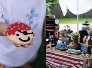 Pirate Third Birthday Party via Kara's Party Ideas | Kara'sPartyIdeas.com #pirate #third #birthday #party #supplies #ideas (4)