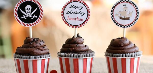 Pirate Third Birthday Party via Kara's Party Ideas   Kara'sPartyIdeas.com #pirate #third #birthday #party #supplies #ideas (23)