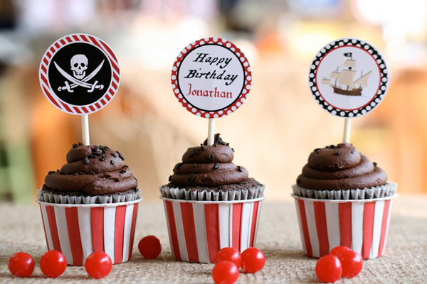 Pirate Third Birthday Party via Kara's Party Ideas | Kara'sPartyIdeas.com #pirate #third #birthday #party #supplies #ideas (23)