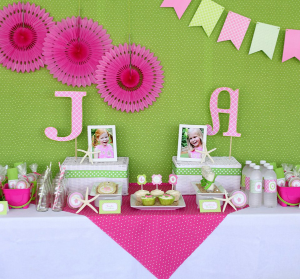 Preppy Pink and Green Sea Turtle Party via Kara's Party Ideas | Kara'sPartyIdeas.com #preppy #pink #and #green #sea #turtle #birthday #party (9)