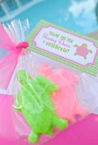 Preppy Pink and Green Sea Turtle Party via Kara's Party Ideas | Kara'sPartyIdeas.com #preppy #pink #and #green #sea #turtle #birthday #party (6)