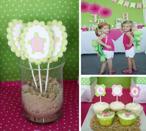 Preppy Pink and Green Sea Turtle Party with SUPER CUTE Ideas via Kara's Party Ideas | Kara'sPartyIdeas.com #preppy #pink #and #green #sea #turtle #birthday #party