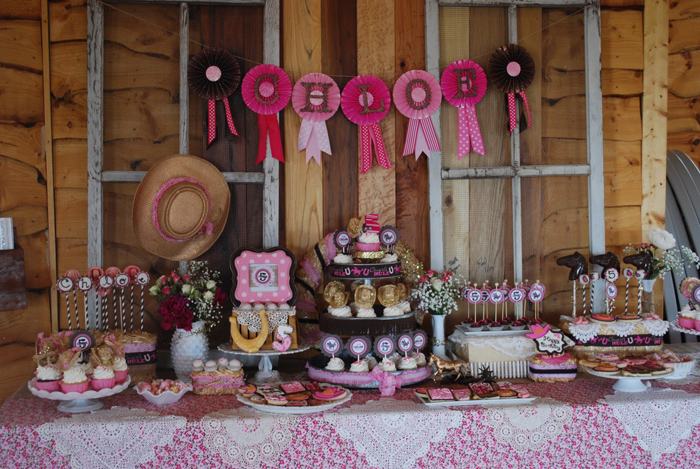 Kara 39 s party ideas cowgirl princess fifth birthday party for 5th birthday decoration ideas
