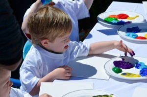 Rainbow Art Party via Kara's Party Ideas | Kara'sPartyIdeas.com #rainbow #art #party #supplies #ideas (6)
