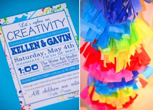 Rainbow Art Party via Kara's Party Ideas | Kara'sPartyIdeas.com #rainbow #art #party #supplies #ideas (4)