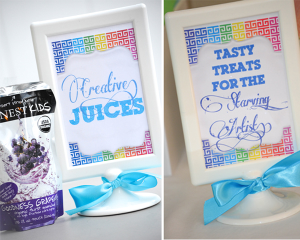 Rainbow Art Party via Kara's Party Ideas | Kara'sPartyIdeas.com #rainbow #art #party #supplies #ideas (2)