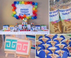 Rainbow Art Party with Lots of Ideas via Kara's Party Ideas | Kara'sPartyIdeas.com #rainbow #art #party #supplies #ideas