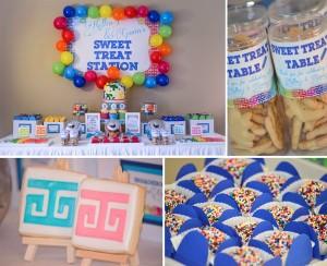 Rainbow Art Party with Lots of Ideas via Kara's Party Ideas | Kara'sPartyIdeas.com #rainbow #art #party #supplies #ideas
