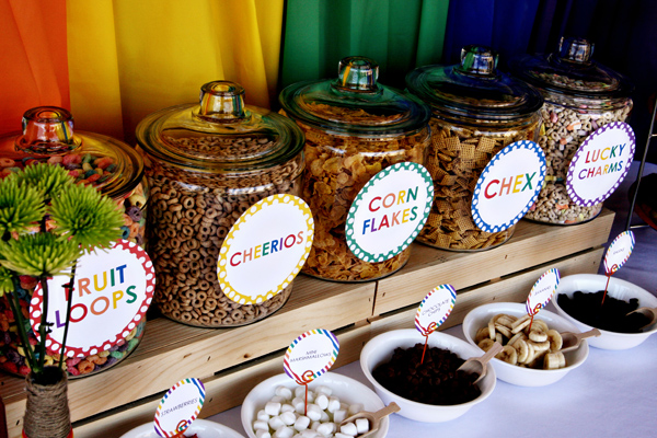 Rainbow Breakfast Party via Kara's Party Ideas | Kara'sPartyIdeas.com #rainbow #breakfast #party (3)