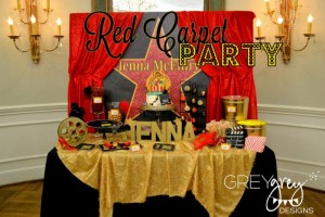 Red Carpet Birthday Party via Kara's Party Ideas | Kara'sPartyIdeas.com #red #carpet #birthday #party #ideas #supplies #decorations (13)