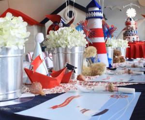 Sailor Bear Birthday Party via Kara's Party Kara'PartyIdeas.com #sailor #bear #birthday #party #planning #ideas #supplies (4)